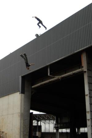 Stuntvogel, Stuntman Peter Salzmann und Thomas Vogel